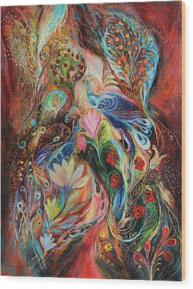 The Magic Garden Wood Print by Elena Kotliarker