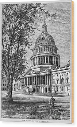 U.s. Capitol Wood Print by Granger