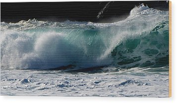 Wood Print featuring the photograph Waves by Barbara Walsh