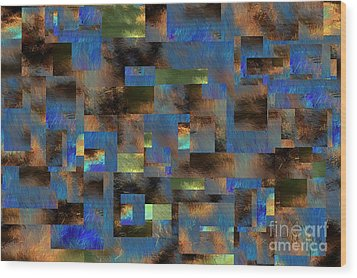 Wood Print featuring the digital art 4312 by Leo Symon