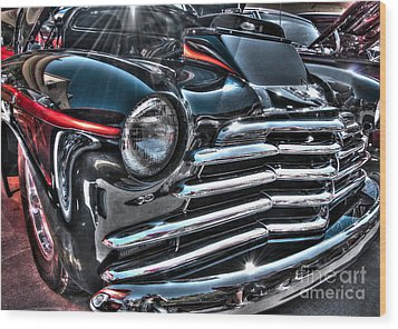 48 Chevy Convertible 2 Wood Print by Anthony Wilkening