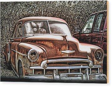 49 Chevy Wood Print by Joe Finney