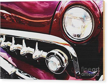 Wood Print featuring the digital art 49 Ford by Tony Cooper
