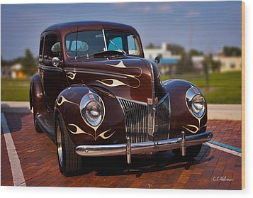 '49 Ford Two Door Sedan Wood Print by Christopher Holmes