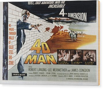 4d Man, Robert Lansing, 1959 Wood Print by Everett