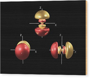 4p Electron Orbitals Wood Print by Dr Mark J. Winter