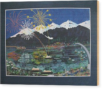4th Of July In Juneau Alaska Wood Print by Sunny Eccleston