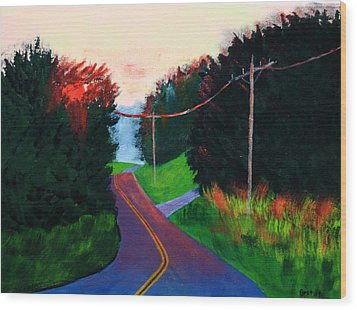 4th Of July Sunset Wood Print by Laurie Breton