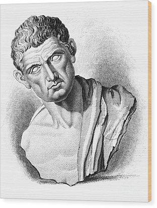 Aristotle, Ancient Greek Philosopher Wood Print by Science Source