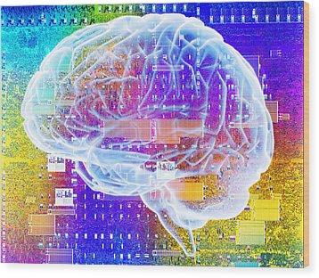 Artificial Intelligence Wood Print by Pasieka