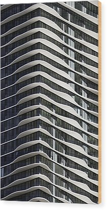 Wood Print featuring the photograph Chicago Architecture by Paul Plaine