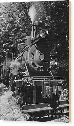 Climax Geared Locomotive Wood Print by Thomas R Fletcher