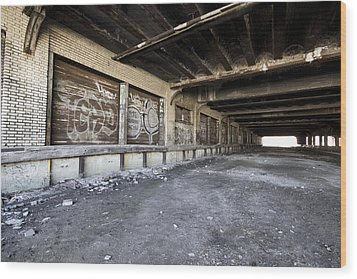 Detroit Abandoned Building Wood Print by Joe Gee