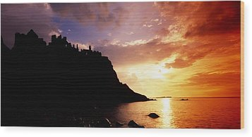 Dunluce Castle, Co Antrim, Ireland Wood Print by The Irish Image Collection