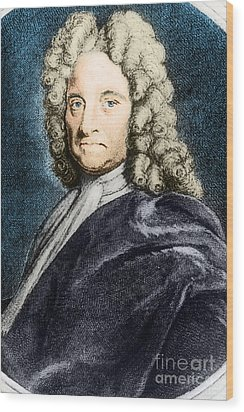 Edmond Halley, English Polymath Wood Print by Science Source