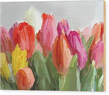 Flowers Wood Print by Bogdan Floridana Oana