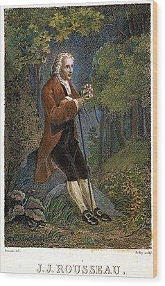 Jean-jacques Rousseau Wood Print by Granger