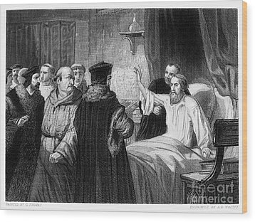 John Wycliffe (1320?-1384) Wood Print by Granger