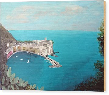 Wood Print featuring the painting 5 Lands Italy by Larry Cirigliano