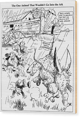 League Of Nations Cartoon Wood Print by Granger
