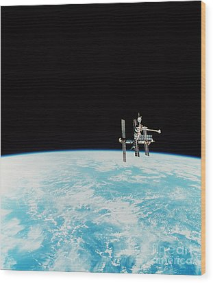 Mir Space Station Wood Print by Nasa