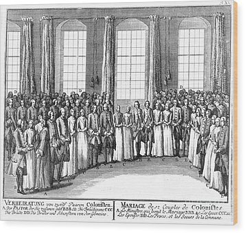 Moravians, 1757 Wood Print by Granger