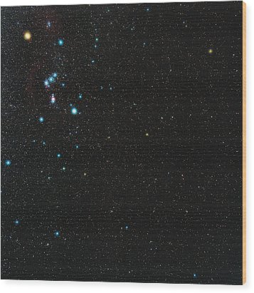 Orion Constellation Wood Print by Eckhard Slawik