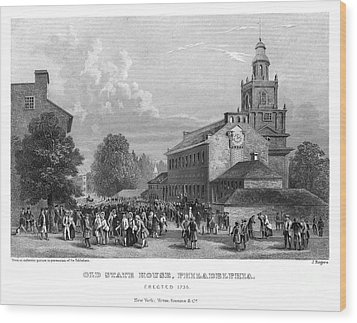 Philadelphia State House Wood Print by Granger