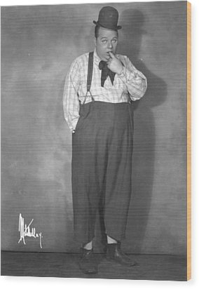Roscoe Fatty Arbuckle Wood Print by Granger