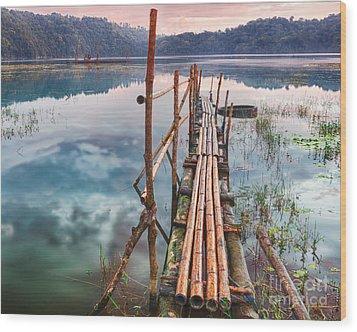 Tamblingan Lake Wood Print by MotHaiBaPhoto Prints