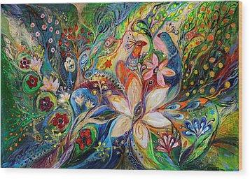 The Magic Garden Wood Print by Elena Kotliarker