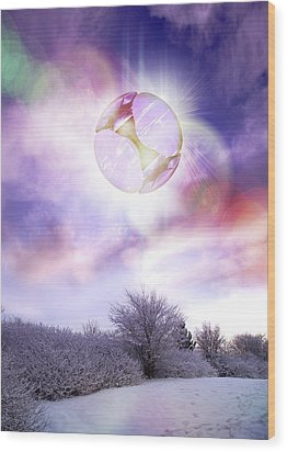Ufo, Artwork Wood Print by Victor Habbick Visions