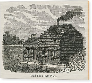 Wild Bill Hickok (1837-1876) Wood Print by Granger