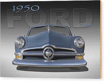 50 Ford Custom Convertible Wood Print by Mike McGlothlen