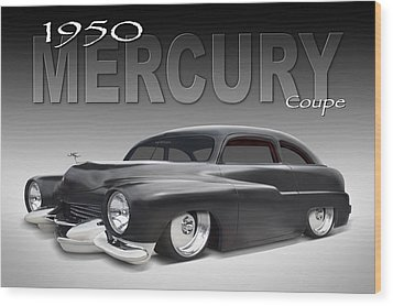 50 Mercury Coupe Wood Print by Mike McGlothlen
