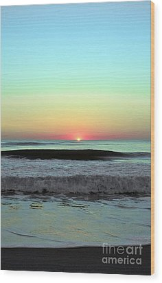 Ocean Tides Series Wood Print by Terry Troupe