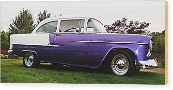 55 Chevy Wood Print by Nick Kloepping
