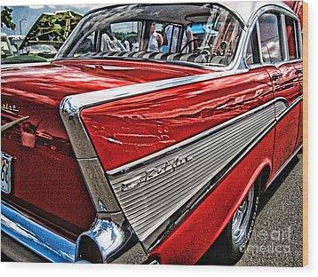 57 Chevy Wood Print by Joe Finney