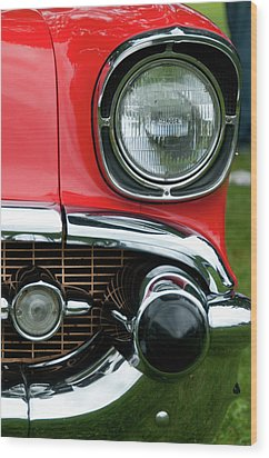 57 Chevy Left Front 8560 Wood Print by Guy Whiteley