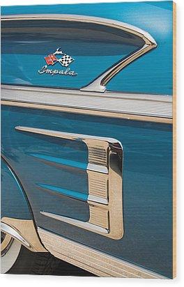 Wood Print featuring the photograph 58 Impala Detail by Chuck De La Rosa