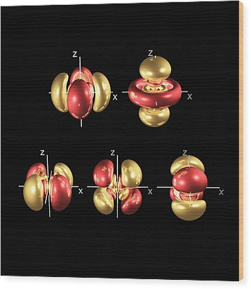 5d Electron Orbitals Wood Print by Dr Mark J. Winter