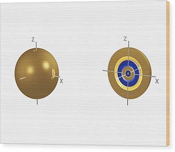 5s Electron Orbital Wood Print by Dr Mark J. Winter