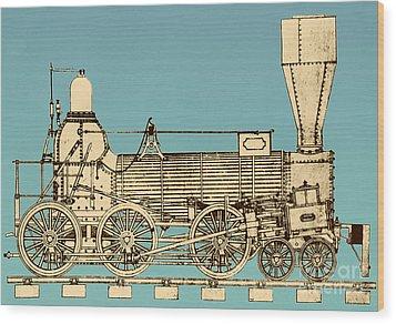 19th Century Locomotive Wood Print by Omikron
