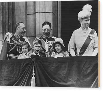 British Royal Family. From Left British Wood Print by Everett