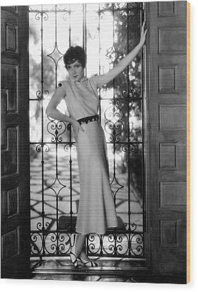 Claudette Colbert, Paramount Pictures Wood Print by Everett