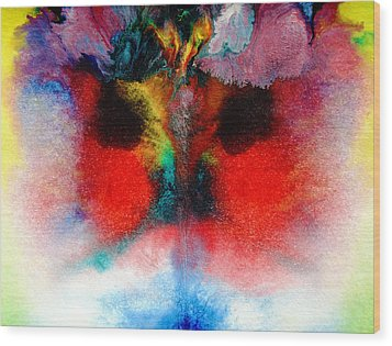 Colorful Water Color Painting Wood Print by Sumit Mehndiratta