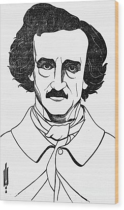 Edgar Allan Poe (1809-1849) Wood Print by Granger