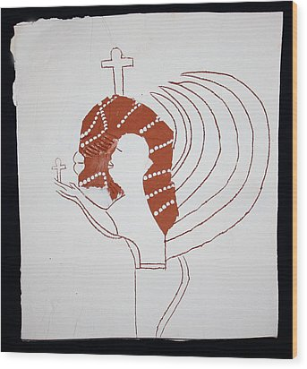 Guardian Angel Wood Print by Gloria Ssali