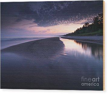 Long Point Beach Wood Print by Oleksiy Maksymenko