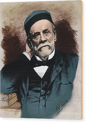 Louis Pasteur, French Chemist Wood Print by Science Source